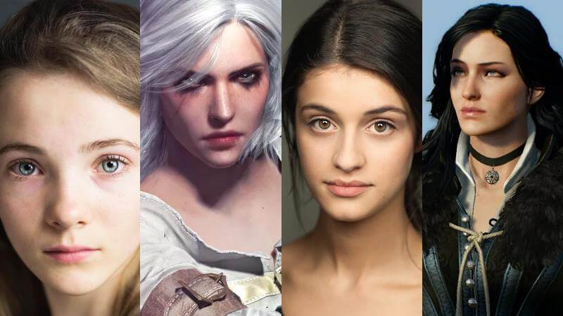 Freya Allan (Cirael) und Anya Chalorta (Yennefer) the witcher