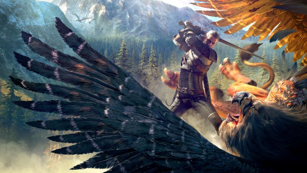 The Witcher 3 - Geralt schlägt einen Greifen